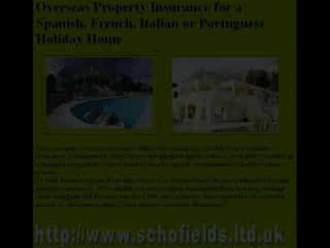 Holiday home insurance in UK - Spain - France - Portugal - I
