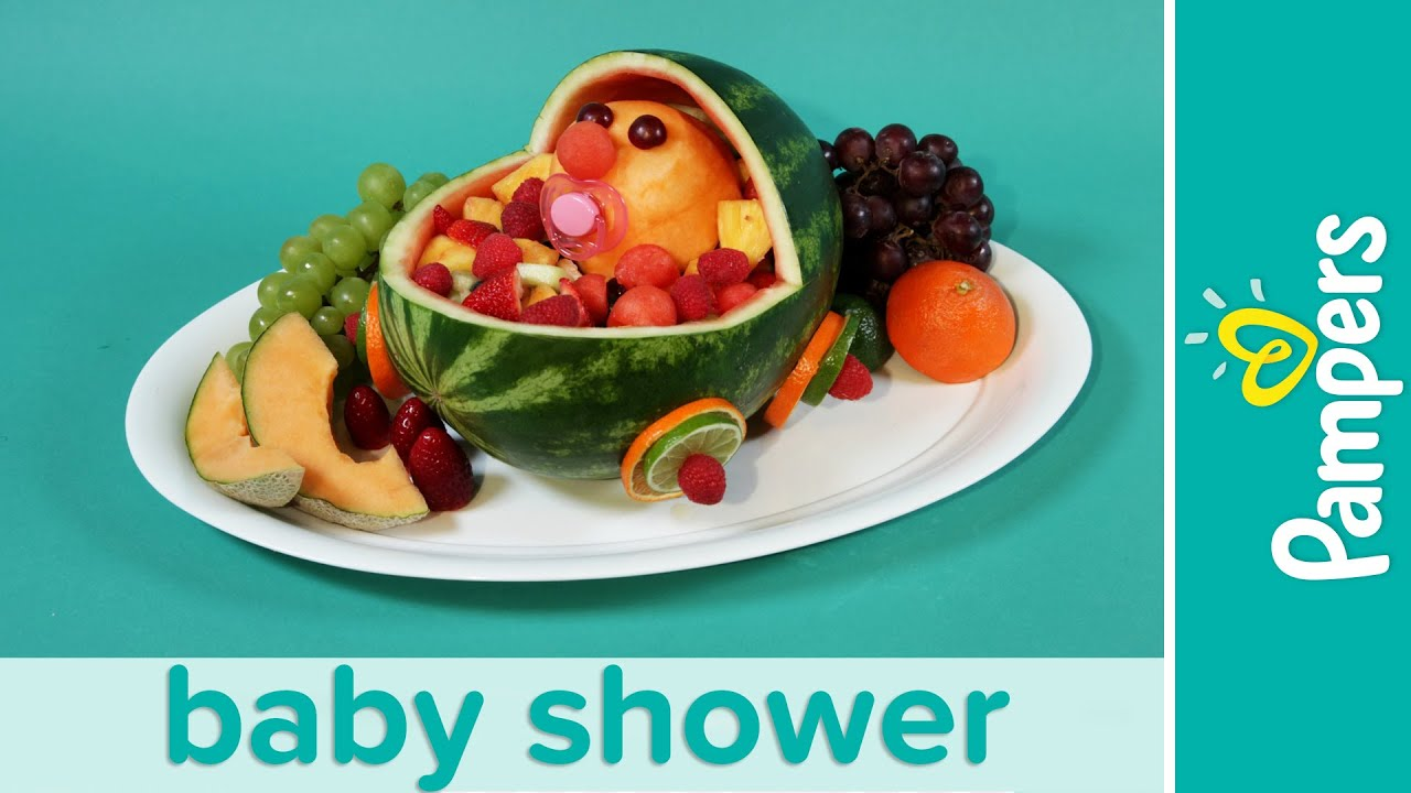 Baby Shower Ideas Stroller Fresh Fruit Salad Recipe Pampers Youtube
