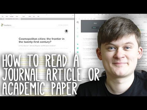 Essay Tips: How to Read, Take Notes On and Understand Journal Articles and Academic Papers