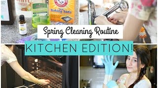 KITCHEN SPRING CLEANING ROUTINE! ALL NATURAL DEEP CLEAN! WORKING MOM ED.