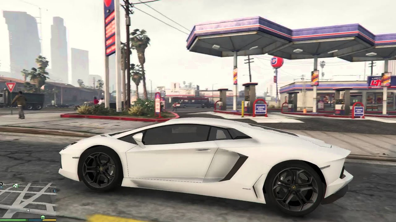 gta v white matte lamborghini aventador lp700 4 youtube. Black Bedroom Furniture Sets. Home Design Ideas