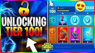 INSTANTLY UNLOCKING TIER 100 in FORTNITE! What Happens When You Hit Tier 100 in Fortnite?!