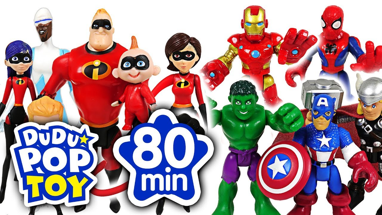 June 2018 TOP 10 Videos 80min Go! Avengers, Incredible, PJmasks and Transformers - DuDuPopTOY