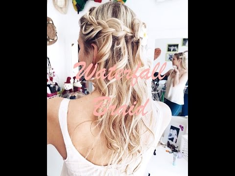 How to: Waterfall Braid and Beach Curls