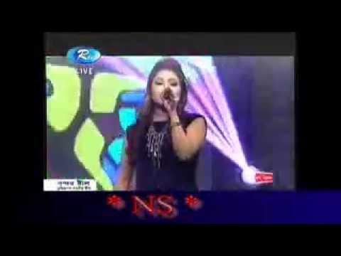 premer manush ghumaile chaia thake new Bangla Song Rtv  Live Show 2016 Singer sania Roma.