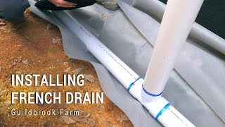 Installing the Foundation Perimeter French Drain System