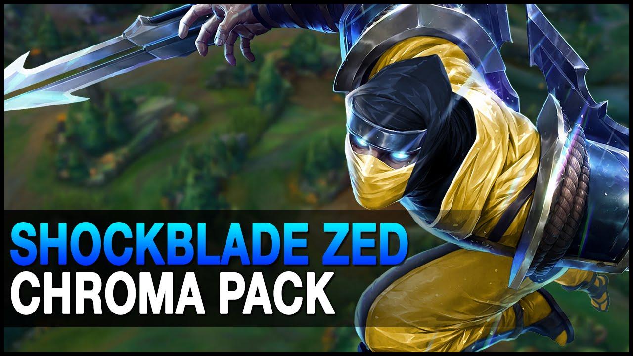 Shockblade Zed Chroma Pack 10 Skins Update Custom Skin