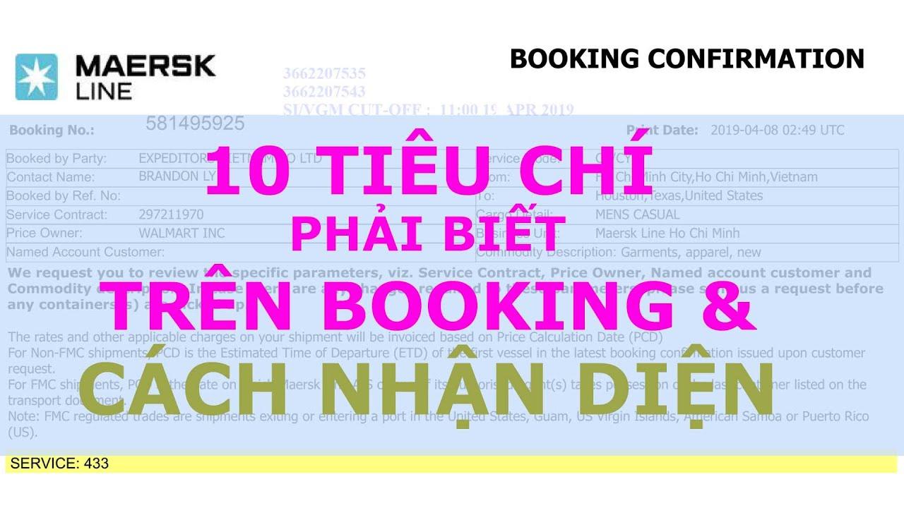 Bài 2.2: 10 Tiêu Chí Phải Biết Trên Booking & Cách Nhận Diện | OscarLe - Webxuatnhapkhau.com