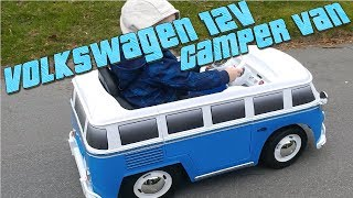 Volkswagen Kids Camper Van RC Ride on 12v Battery (Official Product)
