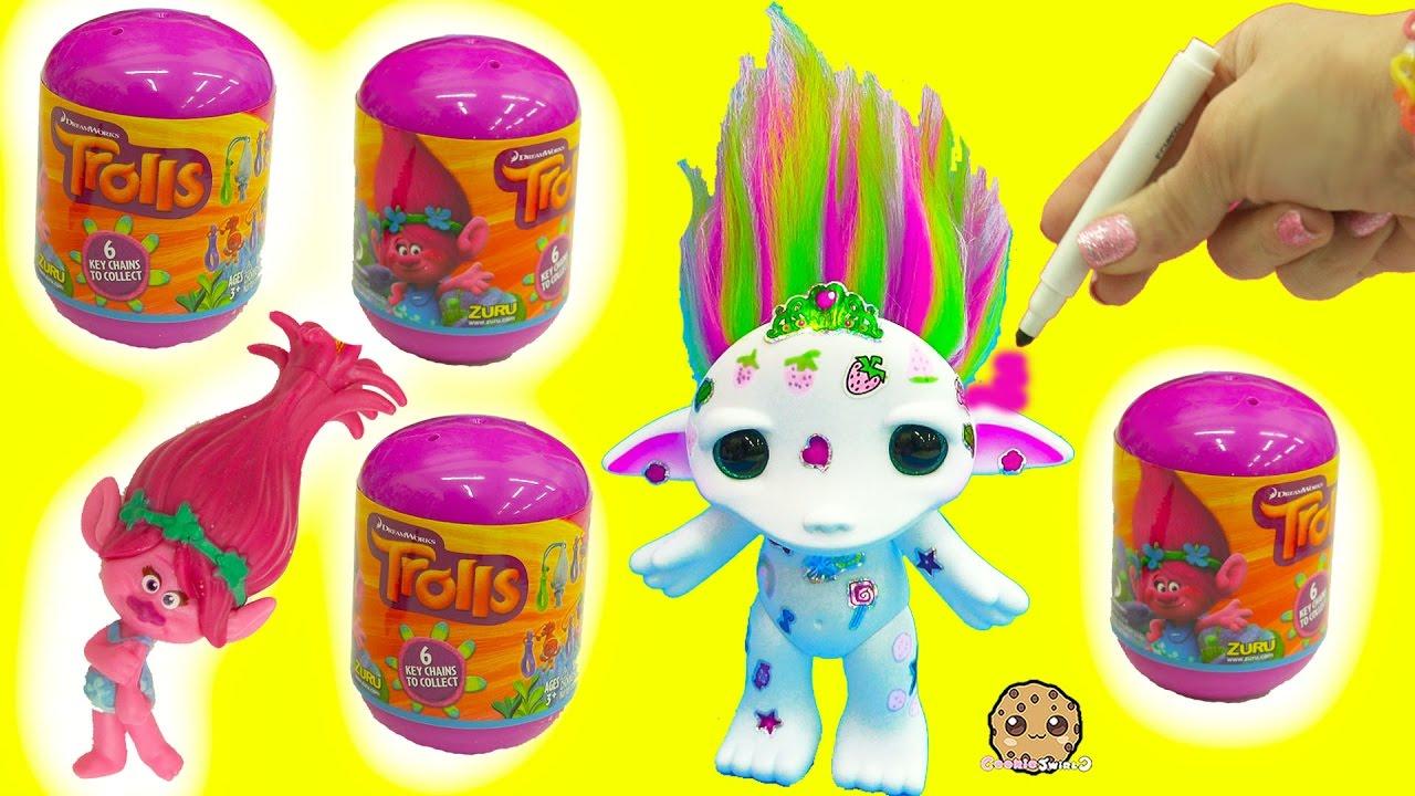 Extreem Maker Color + Design A Rainbow Hair Zelf + Trolls Movie Surprise  #FH-16