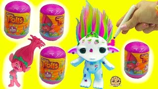Maker Color + Design A Rainbow Hair Zelf + Trolls Movie Surprise Blind Bags