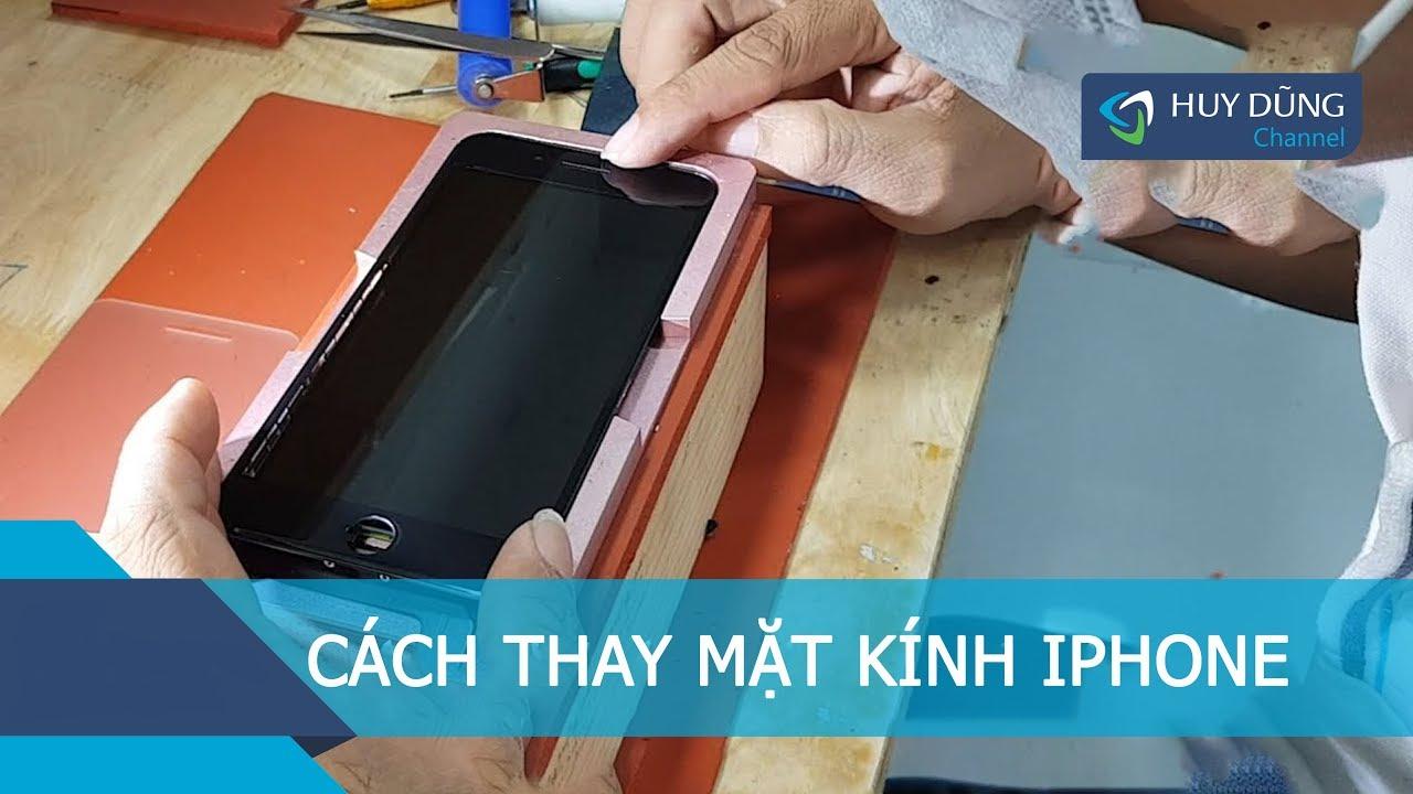 Hướng dẫn anh em kỹ thuật cách thay mặt kính iPhone bị vỡ nặng  – Huy Dũng Mobile
