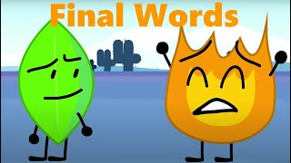 BFB: FINAL WORDS