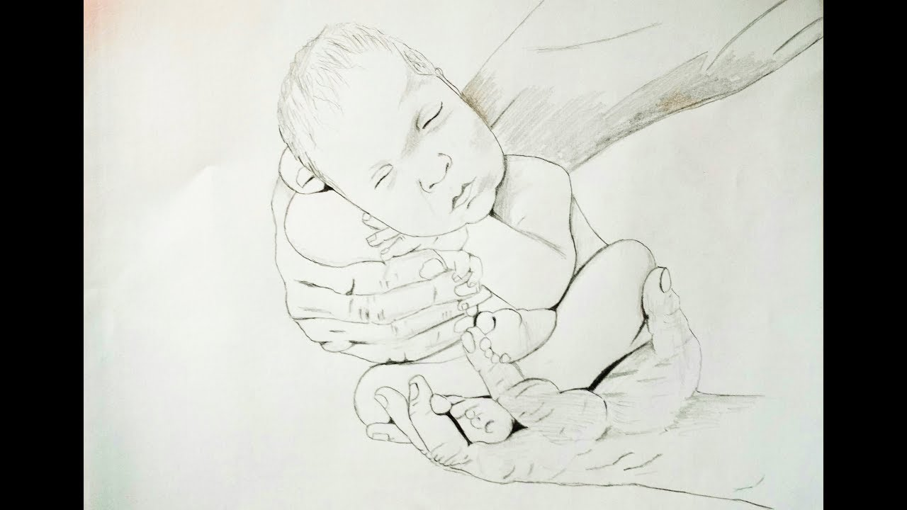 Pencil Drawing For Save Girl Child Pencil Sketch