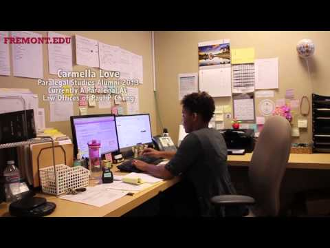 Paralegal degree program at Fremont College