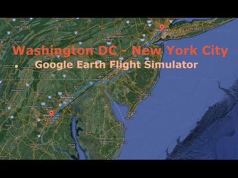 washington dc to new york city google earth flight. Black Bedroom Furniture Sets. Home Design Ideas