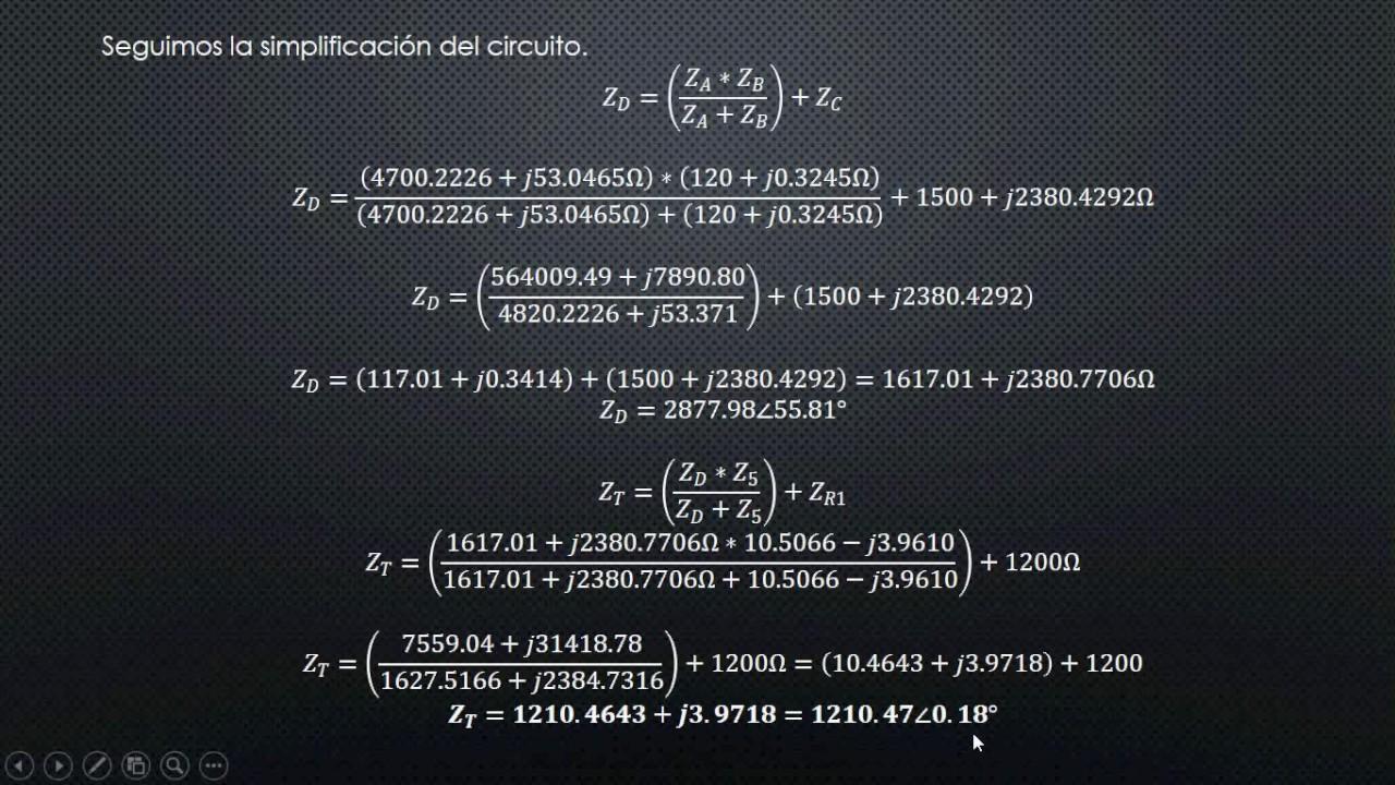 Circuito Z : Paso 3 analisis de circuito rlc youtube