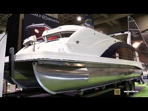 2016 Marker One M27 Pontoon Boat - Walkaround - 2016 Montreal Boat Show