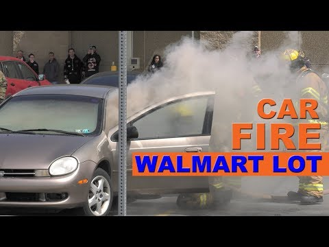 CAR FIRE AT WALMART IN WHITEHALL, PA
