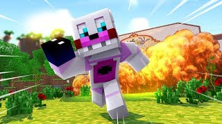Minecraft FNAF- Funtime Freddy Destroys Freddy Fazbear