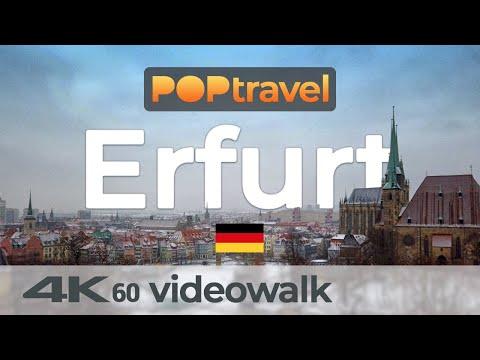 Walking In ERFURT / Germany Around The Old Town - 4K 60fps (UHD)