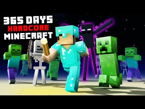 I Survived Hardcore Minecraft for 365 Days And This Is How I Did It!