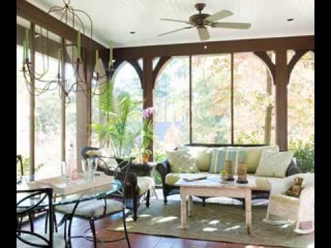 Enclosed porch decorating ideas - YouTube