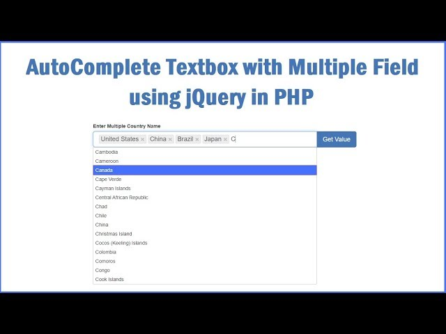 Ajax Autocomplete Textbox with Multiple Selection in PHP