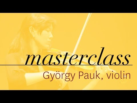 György Pauk - Violin Masterclass - Joanna Lee