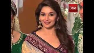Madhuri and Malaika on the sets of