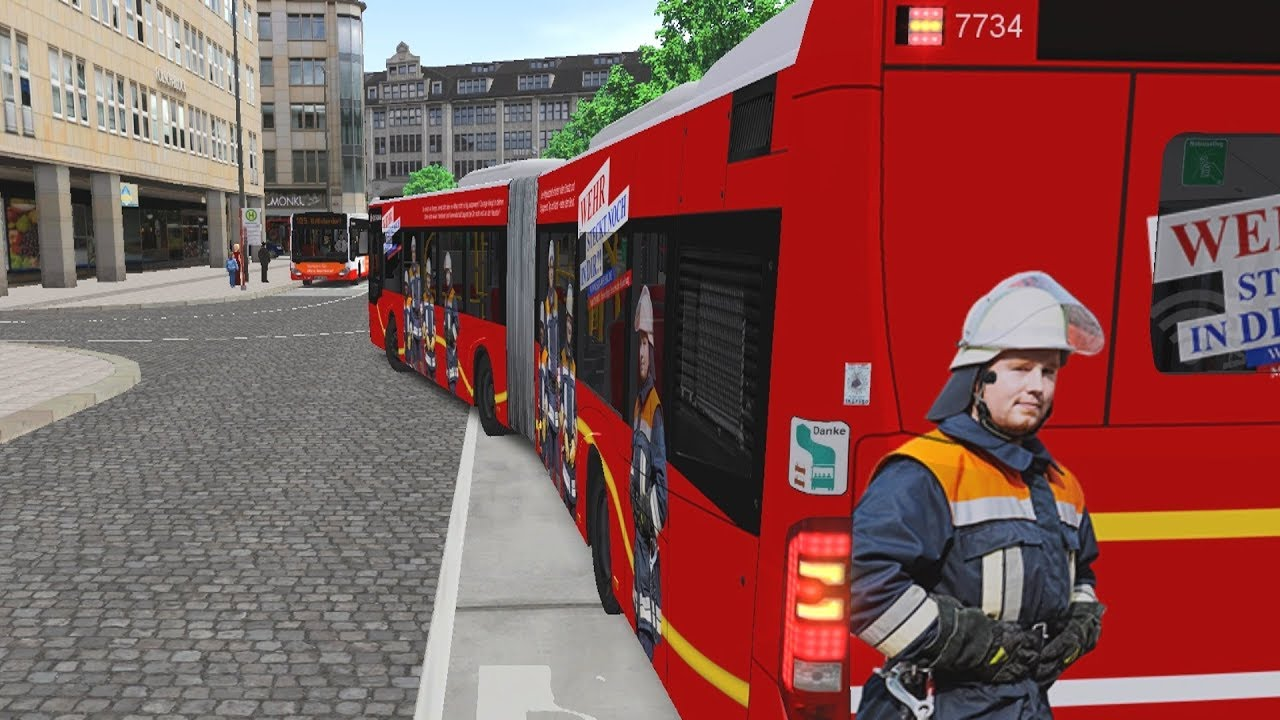 Download OMSI 2 - Hamburg Buses 2018 Articulated Bus (Firefighter Skin)! 4K