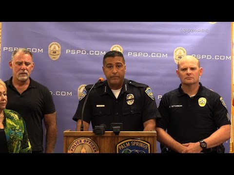 Two Officers Fatally Injured in Gun Fight / Palm Springs  RAW FOOTAGE