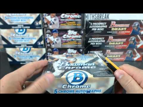 Friday Night NLDS Baseball Mixer Triple Half Case Topps Chrome Bowman Chrome Bowman Draft #1