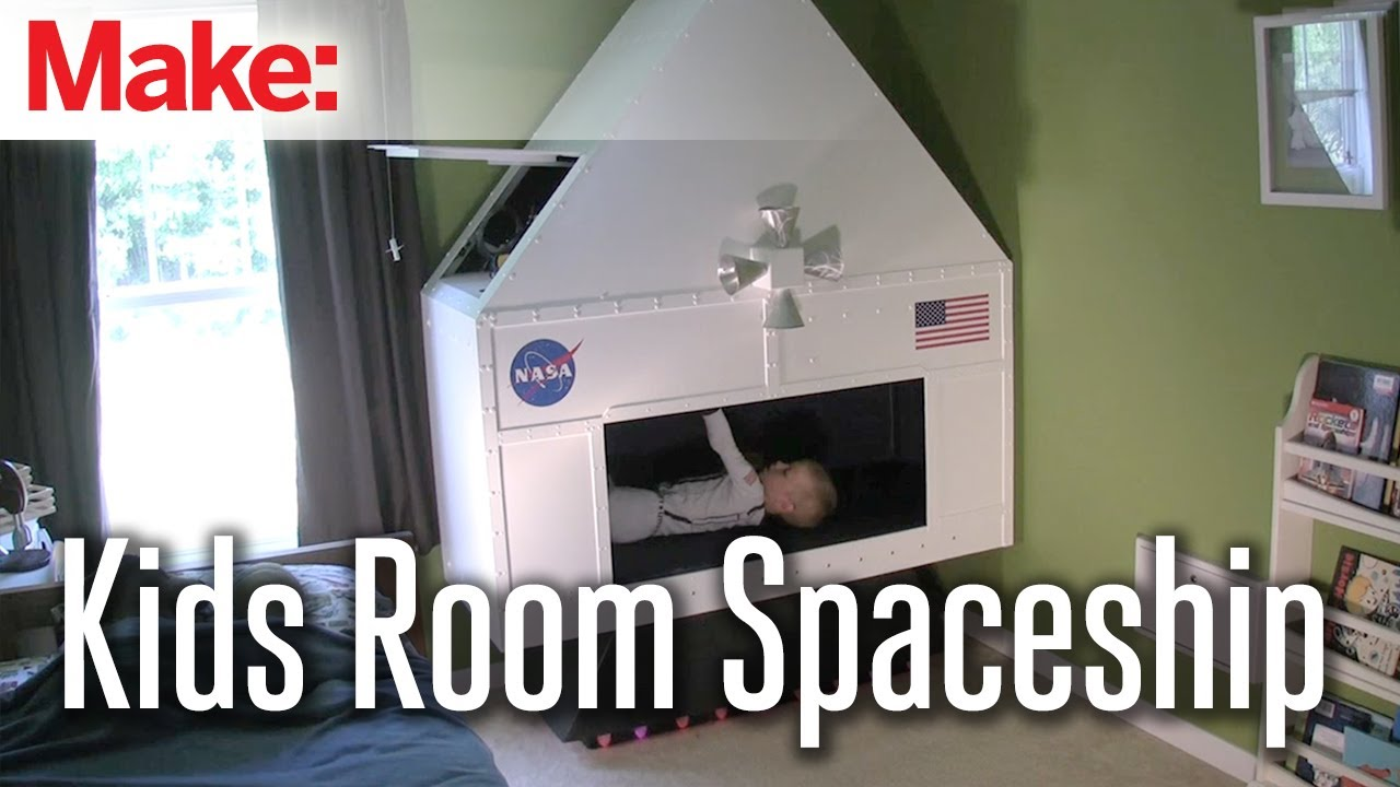 Making fun kids room spacecraft youtube for The make room
