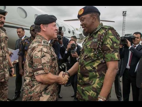 Jordanian King Abdullah II arrives in Kenya