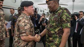 Jordanian King Abdullah II arrives in Kenya