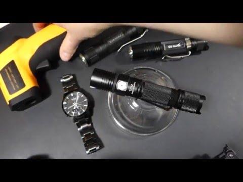 LED Taschenlampen Temperatur Test ...