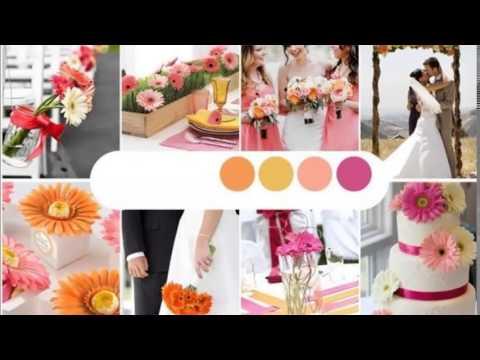 Combinaciones de colores para bodas - YouTube
