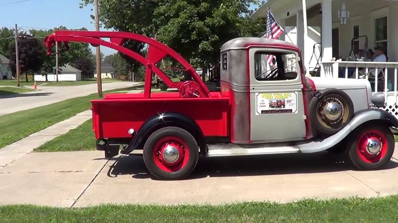 1934 chevy 1 2 ton pickup wrecker youtube. Black Bedroom Furniture Sets. Home Design Ideas