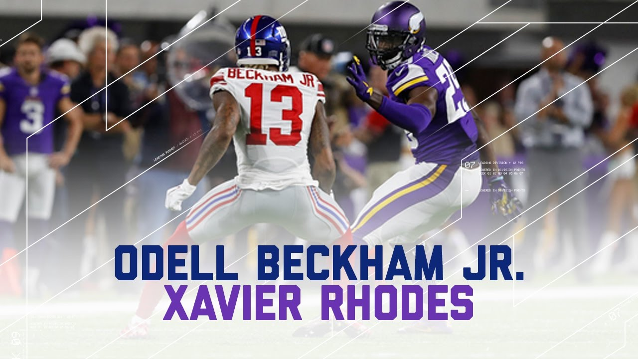 Odell Beckham Jr. Held to Worst Career Game by Xavier Rhodes   NFL Wk 4 Player Highlights