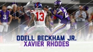 Odell Beckham Jr. Held to Worst Career Game by Xavier Rhodes | Giants vs. Vikings | NFL