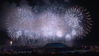 Los fuegos artificiales de la ceremonia de apertura de los JJOO de Sochi