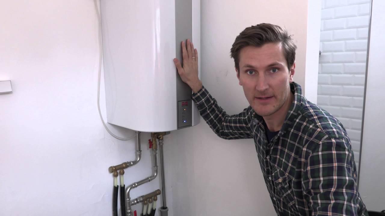 """Forskellige Montering af frostsikker og """"klog"""" vandvarmer i sommerhuset. - YouTube GL45"""