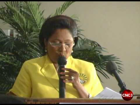 Kamla addresses San Fernando business association.flv