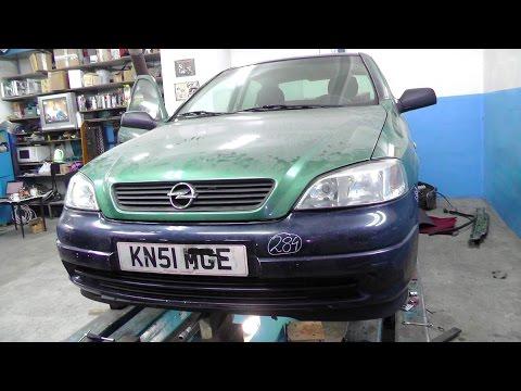 Opel Astra G. Вытяжка лонжеронов. Наборка.