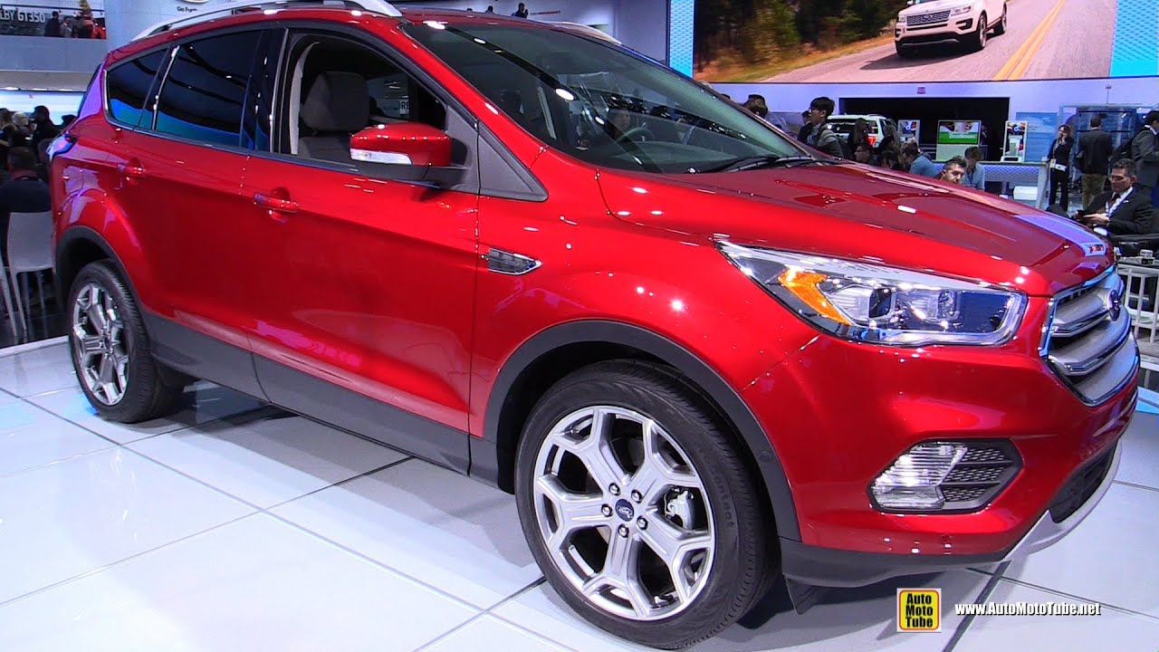 2017 ford escape titanium exterior and interior walkaround 2016 detroit auto show youtube
