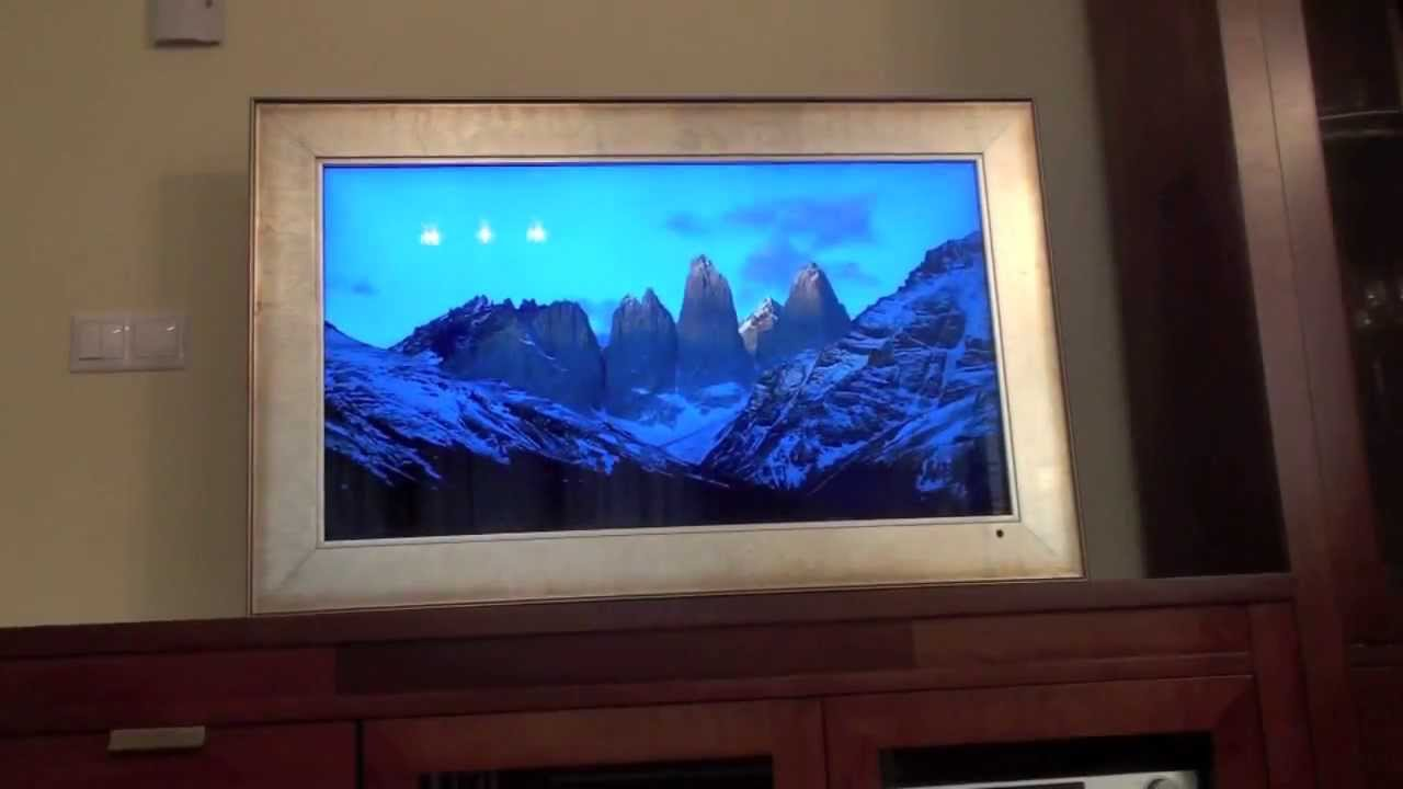 Decoración: Convertir una TV en un Marco Digital HD - YouTube