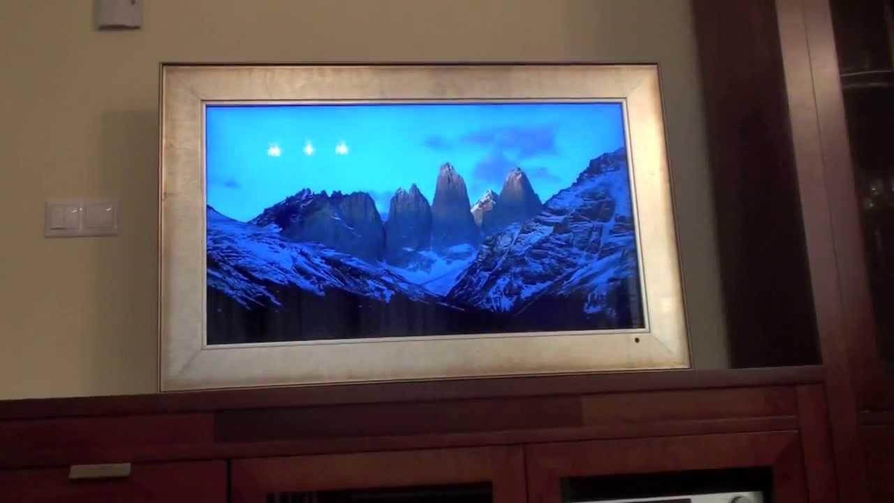 Decoracin Convertir una TV en un Marco Digital HD  YouTube