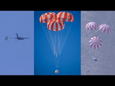 NASA Orion parachute test, 8 March 2017