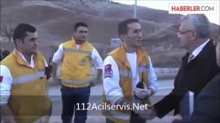 Çankırı 112 | Çankırı Valisi Olay Yerinde Ambulansa Tatbikat Düzenledi